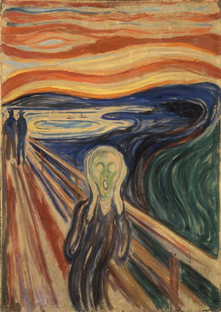 Munch, Edvard: The Scream. Fine Art Print/Poster. Sizes: A4/A3/A2/A1 (0080)